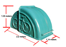 2 Bicycles Bikeshel Dimensions