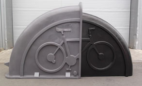 Grey & Black colour mix bike locker