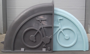 Grey & Black Bike Shell