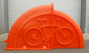 Orange Bike Shelter
