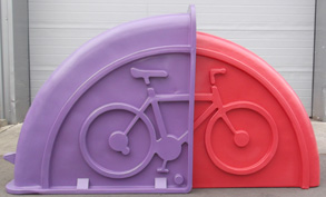 Purple & Pink Bike Safe